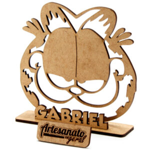 Centro De Mesa Garfield Personalizado Mdf